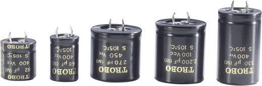 Nagyfesz elkó 4700 µF 25 V, Ø22 x 40 mm