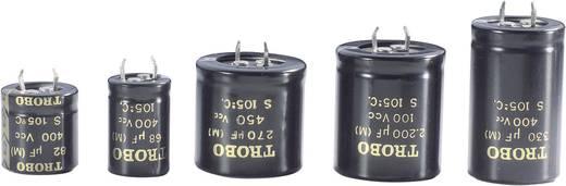 Nagyfesz elkó 4700 µF 40 V, Ø25 x 40 mm