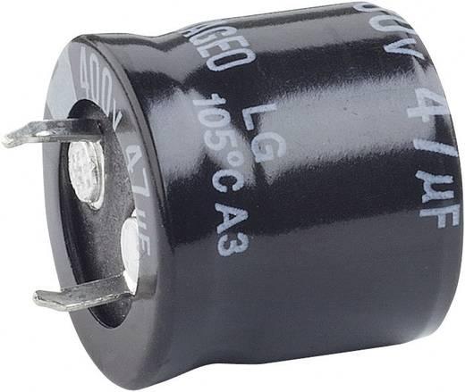 Nagyfesz elkó 220 µF 200 V, Ø25 x 30 mm