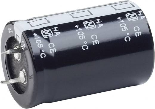 Nagyfesz elkó 22000 µF 25 V, Ø35 x 50 mm
