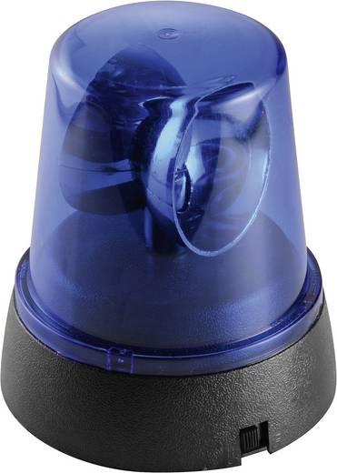 Mini LED-es forgófény, kék, elemes