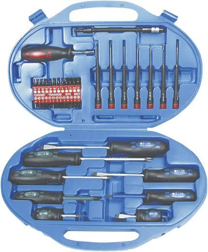 Csavarhúzó készlet kofferben, 42 részes PH, PZ és Torx csavarhúzókkal Brüder Mannesmann 11242