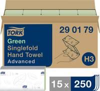 TORK 290179 Zickzack Advanced Papír kéztörlők (H x Sz) 23 cm x 25 cm Zöld 15 x 250 lap/csom. 3750 db TORK
