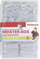Fischer 513894 Meister-Box UX-R dübelekkel, csavarokkal, kerek és sarokhorgokkal Tartalom 118 rész Fischer