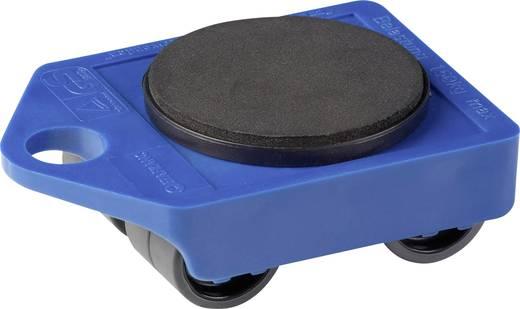 Görgős szállító lap, műanyag, kék, 106x75x38 mm