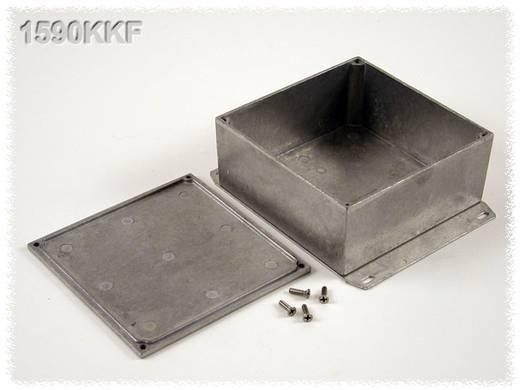 Hammond Electronics alumínium öntvény dobozok peremmel, 1590KKFBK 125 x 125 x 56 mm, fekete