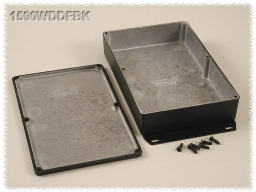 Hammond Electronics öntvény dobozok, 1590-es sorozat 1590WDDFBK alumínium (H x Sz x Ma) 187.5 x 119.5 x 37 mm, fekete
