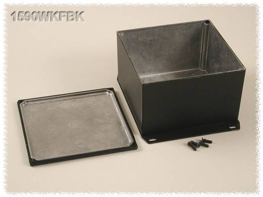 Hammond Electronics öntvény dobozok, 1590-es sorozat 1590WKFBK alumínium (H x Sz x Ma) 125 x 125 x 79 mm, fekete