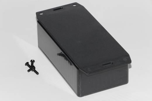 Univerzális műszerdoboz ABS, fekete 120 x 65 x 40 Hammond Electronics 1591CF2BK 1 db
