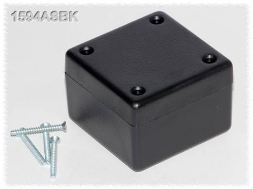 Univerzális műszerdoboz ABS, fekete 56 x 56 x 40 Hammond Electronics 1594ASBK 1 db
