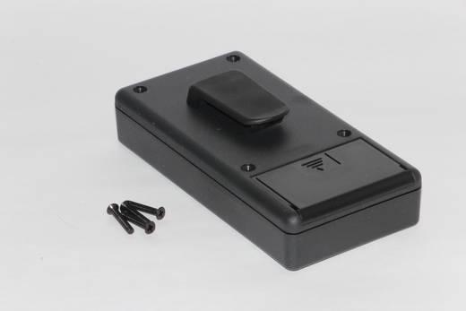 Kézi műszerdoboz ABS fekete 130 x 65 x 25 mm, Hammond Electronics 1599BBKCP,