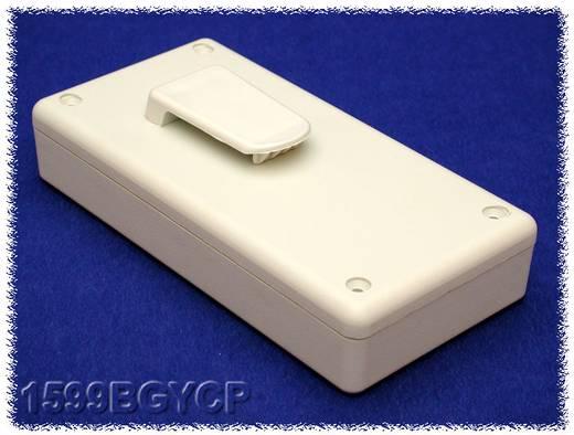 Kézi műszerdoboz ABS, szürke 130 x 65 x 25 mm, Hammond Electronics 1599BGYCP,
