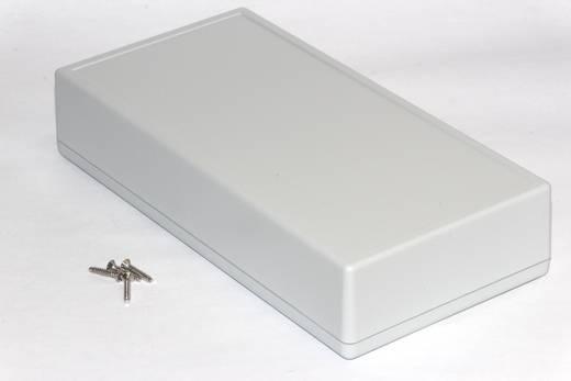 Kézi műszerdoboz ABS, szürke 220 x 110 x 44 mm, Hammond Electronics 1599HGYBAT,