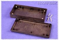 Kézi műszerdoboz ABS fekete 130 x 65 x 25 mm, Hammond Electronics 1599RFIBBK, (1599RFIBBK) Hammond Electronics