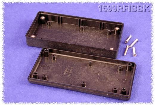 Kézi műszerdoboz ABS fekete 130 x 65 x 25 mm, Hammond Electronics 1599RFIBBK,