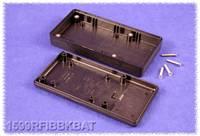 Kézi műszerdoboz ABS fekete 130 x 65 x 25 mm, Hammond Electronics 1599RFIBBKBAT, (1599RFIBBKBAT) Hammond Electronics