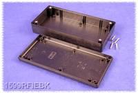 Kézi műszerdoboz ABS fekete 170 x 85 x 34 mm, Hammond Electronics 1599RFIEBK, Hammond Electronics