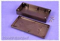 Kézi műszerdoboz ABS fekete 170 x 85 x 34 mm, Hammond Electronics 1599RFIEBKBAT, Hammond Electronics