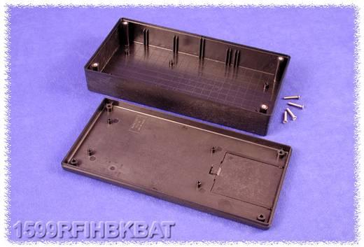 Kézi műszerdoboz ABS fekete 220 x 110 x 44 mm, Hammond Electronics 1599RFIHBKBAT,