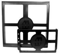 Dokumentum tartó ABS fekete (H x Sz x Ma) 0.75 x 6 x 6 mm Hammond Electronics PKT66 1 db (PKT66) Hammond Electronics