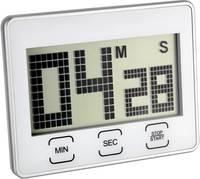 Digitális visszaszámláló óra, időzítő, stopper funkcióval, 21x90x70 mm, ezüst, TFA 38.2027 TFA Dostmann