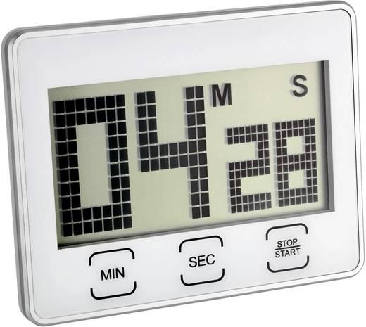 Digitális visszaszámláló óra, időzítő, stopper funkcióval, 21x90x70 mm, ezüst, TFA 38.2027