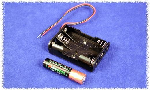 Elemtartó BH3AAAW Műanyag fekete 3 db mikroelem, Hammond Electronics