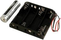 Elemtartó BH4AAW Műanyag fekete 4 db ceruzaelem, Hammond Electronics (BH4AAW) Hammond Electronics