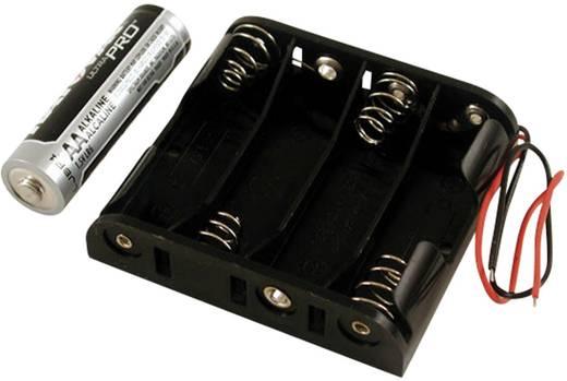 Hammond Electronics Elemtartó BH4AAW Műanyag Fekete 4 db ceruzaelem