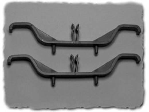 Szerelő láb Kihajtható Poliamid Fekete (H x