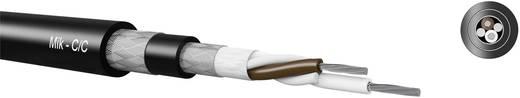 Mik-C/C Mikrofonkábel, kettős fonott árnyékolás 2 x 0.50 mm² fekete méteráru Kabeltronik