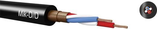 Mik-D/D-PVC Mikrofonkábel, kettős csavart árnyékolás 2 x 0.22 mm² fekete méteráru Kabeltronik