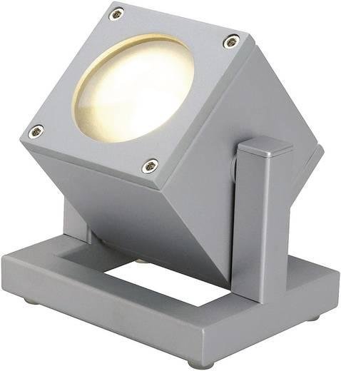 Kültéri fényszóró, GU10, 25 W (melegfehér), 230 V, IP44, ezüstszürke, SLV Cubix I 132832