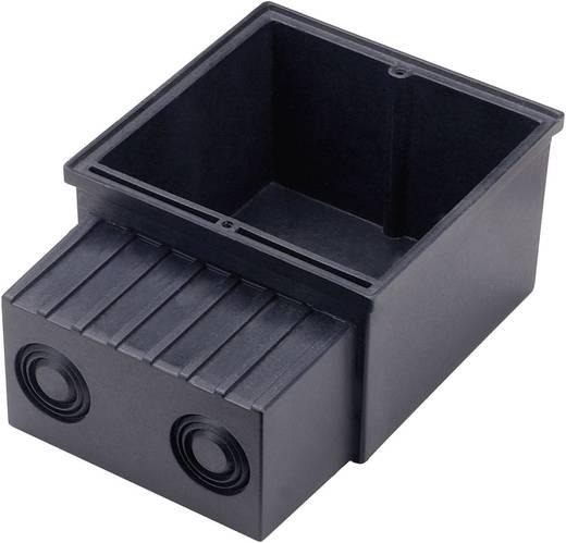 Beltéri beépíthető lámpa beépítő doboz, lapos kerethez, fekete, SLV 112781