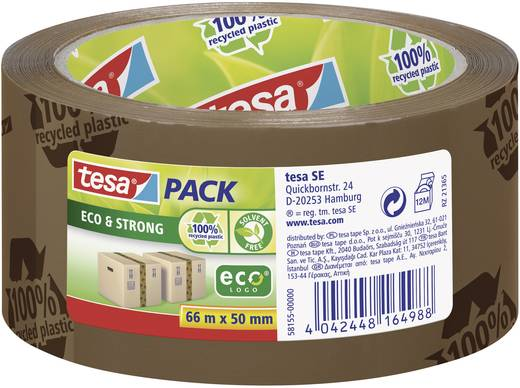Ragasztószalag Tesapack® Eco & Strong 66 m x 50 mm, barna (nyomtatott), TESA PP 58155