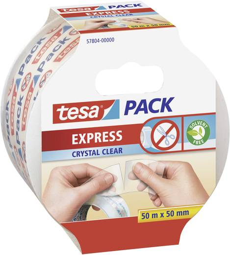 Ragasztószalag Tesapack Express Crystal Clear 50 m x 50 mm, TESA 57804