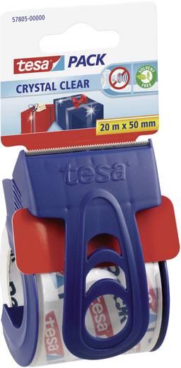 Ragasztószalag és tartó Tesapack Cryst. Clear 20 m x 50 mm TESA 57805