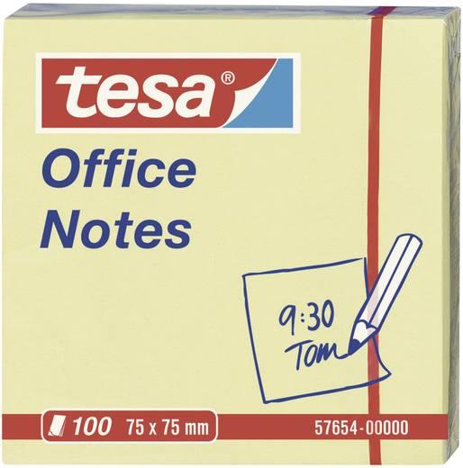 Tesa öntapadó jegyzettömb, jelölőcímke sárga 75 mm x 75 mm TESA 57654-00-05
