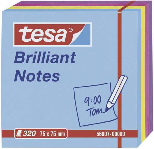 Post-it Tesa Brilliant Notes 320 lap, kék/sárga/rózsaszín/lila 75 x 75 mm TESA 56007