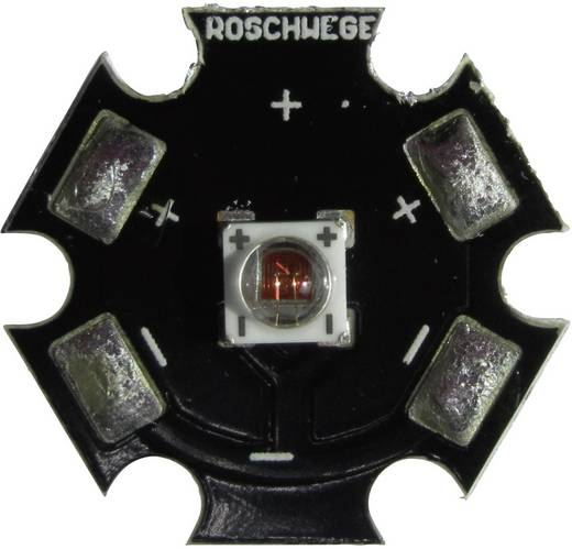 High-Power LED csillag alakú panelhoz 5 W, 1 chip, cseresznyepiros, Star-FR740-05-00-00