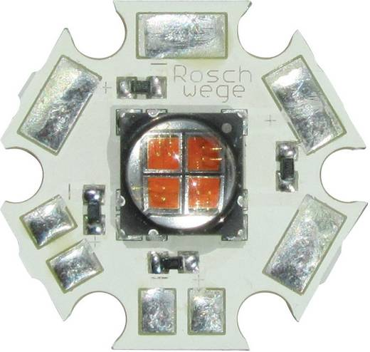 High-Power UV LED csillag alakú panelhoz 405 nm, 4 chip, Star-UV405-10-00-00