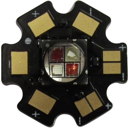High-Power LED csillag alakú panelhoz 10 W, 4 chip, cseresznyepiros, Star-FR740-10-00-00