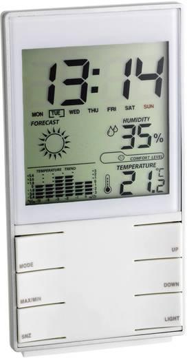 Elektronikus időjárásjelző állomás, digitális, ezüst, TFA