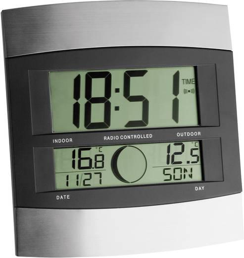 Rádiójel vezérelt falióra külső hőmérséklet méréssel, 222x240x34 mm, ezüst TFA