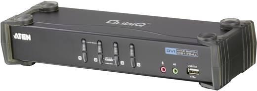 4 portos KVM switch, (billentyűzet, video, egér) elosztó, és USB 2.0 Hub Aten CS1764A-AT-G