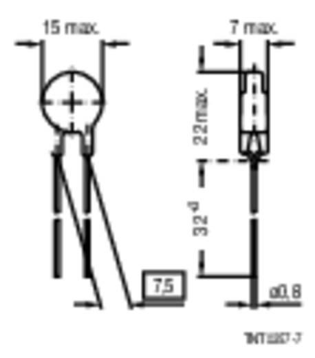 Hővezető S237 22 Ω Epcos B57237-S220-M 1 db