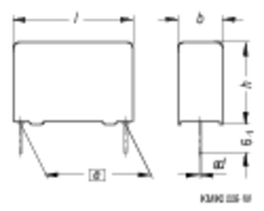 MKP fóliakondenzátor, radiális 0,33 µF 250 V/DC 5 % 15 mm, 18 x 7 x 12,5 mm Epcos B32652-A3334-J