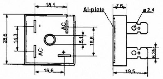 Szilícium hídegyenirányító B125/110-10