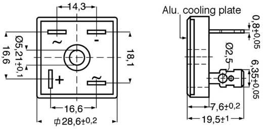 Szilícium hídegyenirányító B125/110 25A