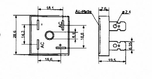 Szilícium hídegyenirányító B40/35 25 A